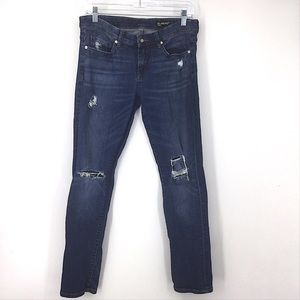 Blank NYC Tomboy Distressed Blue Jeans 26